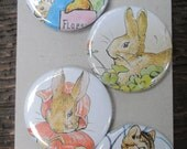 Peter Rabbit Upcycled / Recycled Magnet Set (4)
