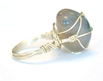 Flourite Wire Wrapped Ring