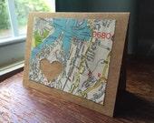 I love Danbury CT 06810 - 1 blank handmade greeting card
