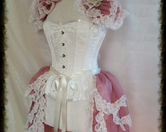 LOLITA Burlesque 4 layered  Bustle Skirt  and Shrug SET