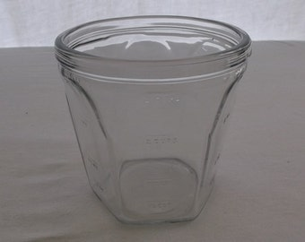 Vintage Measuring Cup Glass Jar 3 Cup Measure