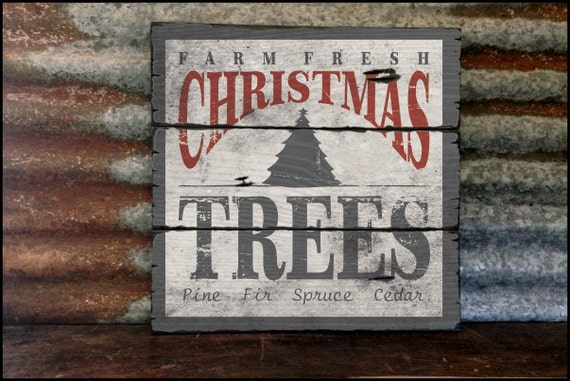 Farm Fresh Christmas Trees, Handcrafted Rustic Wood Sign, Mountain Decor for Home and Cabin, 2027