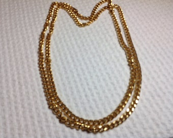 Vintage Gold Chain Necklace, heavy