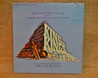 KING OF KINGS - Original Motion Picture Soundtrack - 1961 Vintage Vinyl Record Boxed Album Set...W/Hardback Book and 4 Photos
