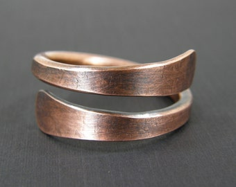 Mens Large Copper Ring, or Womens Thumb Ring, Copper Wire Ring, Made to Order Ring