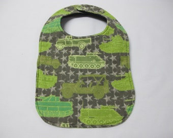 Army bib for toddler boy