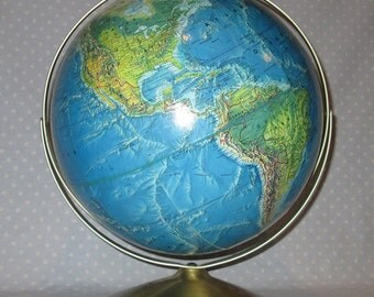 Vintage Rand McNally World Globe Large