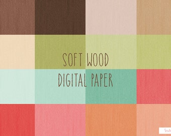 Soft Wood Texture Digital Paper Pack