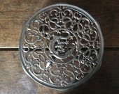 Vintage French metal stylized dragon trivet pot kettle pan vase stand circa 1950-60's / English Shop