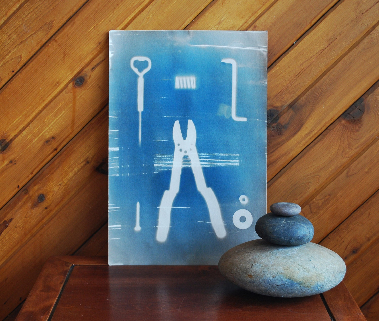 Man Cave Decor Etsy : Man cave decor cyanotypes set of prints industrial art