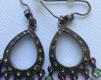 1928 Rhinestone chandelier earrings  VJSE