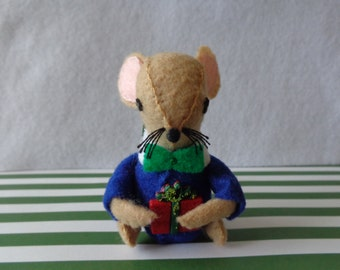 Mr. Brown Mouse Christmas Ornament by Pepperland