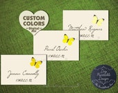 Diy PRINTABLE Rustic Escort Card Pdf BUTTERFLY Personalized Wedding Decor Place Favor Tag Thank You Country Seating Sign Name Template Cheap