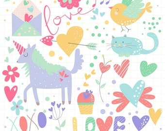 INSTANT DOWNLOAD - Sweet Valentine Cliparts