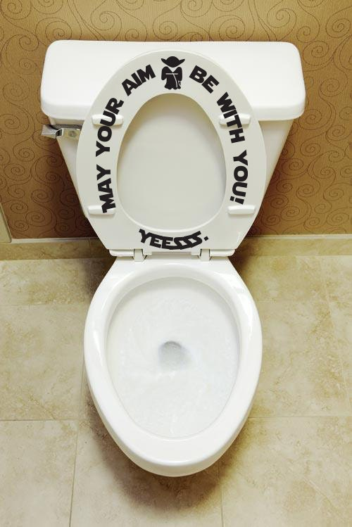 May Your Aim Be With You Potty Training Toilet Seat Decal