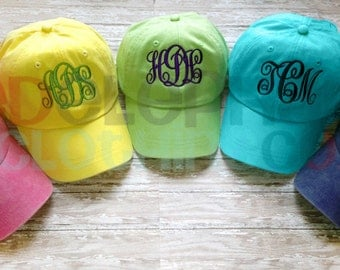 Monogram Toddler Hat, Personalized Baseball Cap for Children, Birthday Gift, youth, kids