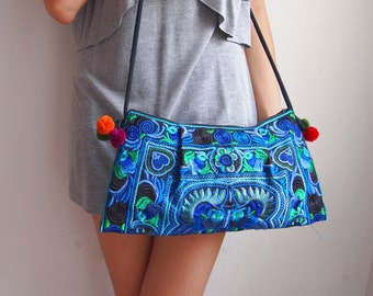 Hmong Hippy Hobo Boho Thai Indian Style Shoulder Tote Ethnic Small Bag