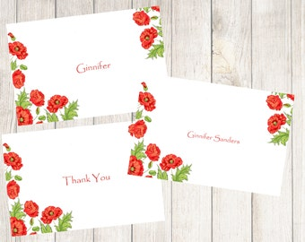 Brite Poppy Note Cards