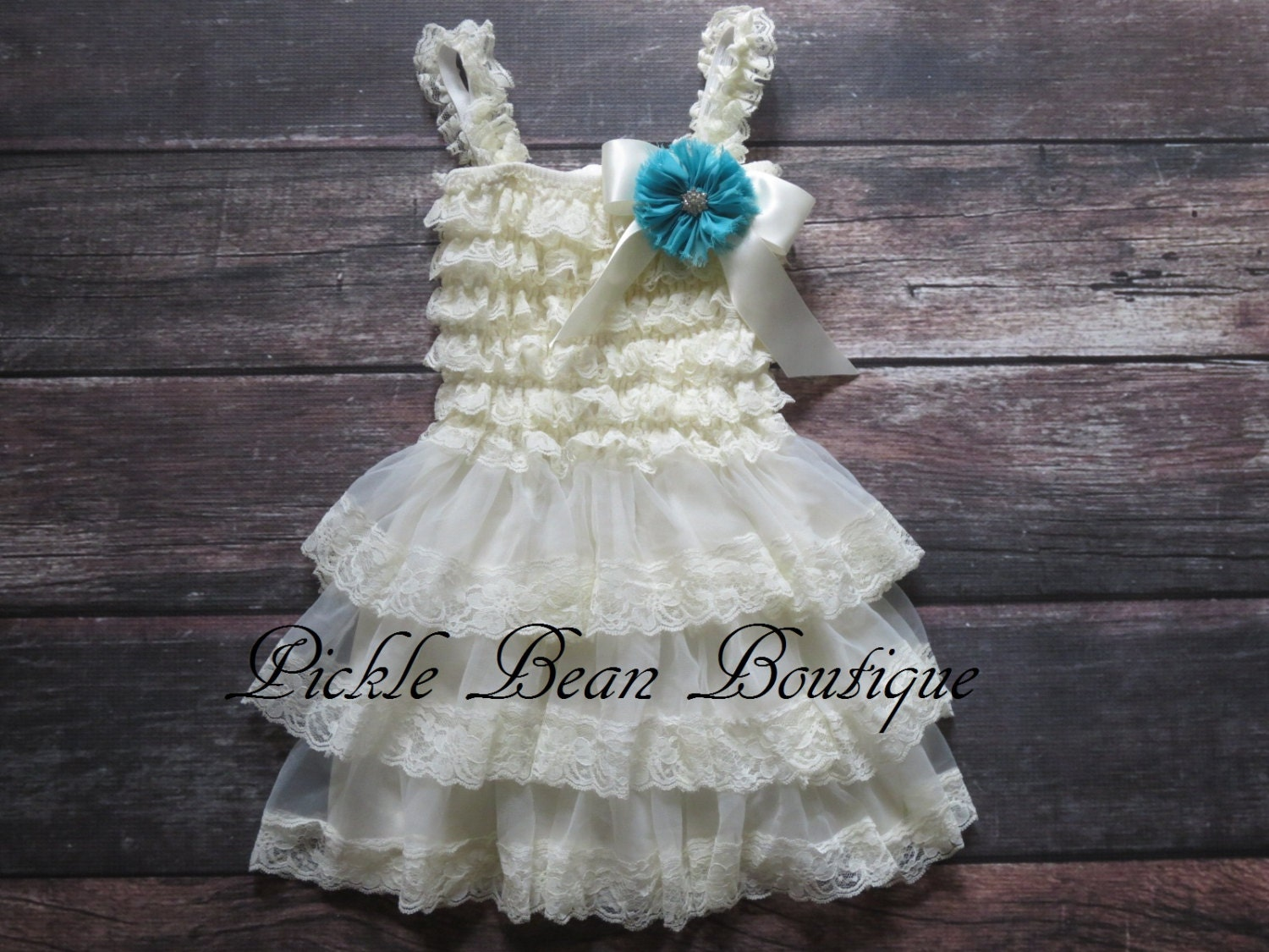 Country Flower Girl Dress Vintage Baby Dress Beach Dress