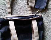 Vintage Cherokee Denim Two-Toned Handbag/Tote with attached Coin Purse