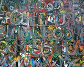 ALPHABET archival giclee print of original oil painting on canvas