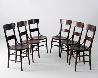 antique bentwood chair set of 6