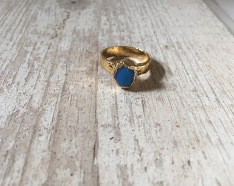 SALE: Royal Blue Stone Clay Ring