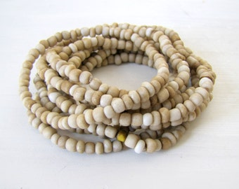 Stacking Bracelet Beaded Bracelet Stretch Bracelet Small Bead Bracelet Beige Bracelet Stack Bracelet Boho Bracelet Beach Jewelry Summer