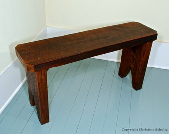 Reclaimed Wood Bench Handmade From Salvaged Boards Farmhouse Furniture by Marc Deloach