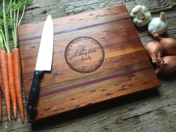 Personalized Chopping Block - Engraved Wood Chopping Block - Wedding Gift, Housewarming Gift, Anniversary Gift - Personalized
