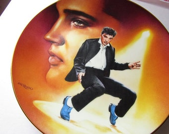 Elvis Presley Enterprises 'Blue Suede Shoes' porcelain collector plate #2!