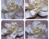 Made to Order Deluxe Ivory Hawaiian Gardenia Clay Wedding Bridal Flower Accessory Handmade by artist Michelle Stroman