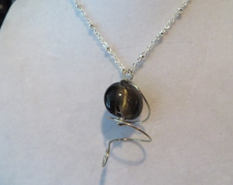 Silver Wire Wrapped Pendant, Pendant, Necklace, Wire Wrapped