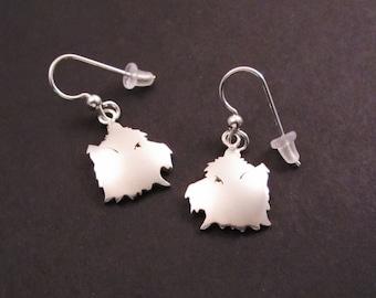 Yorkshire Terrier Silver Earrings