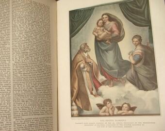 Antique The Catholic Encyclopedia volume 15, 1912, antique Catholic book, photographs illustrations, Virgin Mary Madonna, religious book