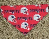 New England Patriots Dog Collar Bandanna/Scarf - Medium