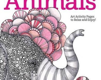 Adult Coloring Book - Creative Coloring Animals: Art Activity Pages to Relax and Enjoy! - by Design Originals (30030978)