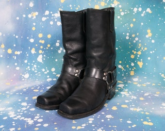 Men's MOTORCYCLE Harness Boots Size 8 D