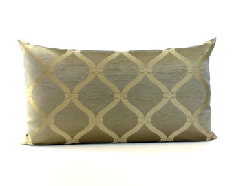 Lumbar Pillow Cover Olive Beige Pillow Scroll Upholstery Fabric Decorative Pillow Oblong Throw Pillow Cover 12x24 12x21 12x18 12x16 10x20