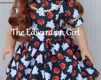 Flash Sale! Three of a kind 1930s/1940s Hallowe'en dresses. Fits 18 inch play dolls such as American Girl, Springfield, OG . Made in USA