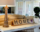 tile with point value home decor scrabble rustic home decor wood