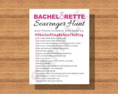 Bachelorette Party Scavenger Hunt, Printable Bachelorette Party Scavenger Hunt, A Fun Bachelorette Party Game