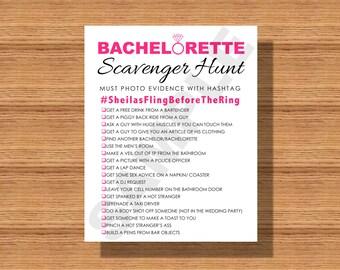 Bachelorette Party Scavenger Hunt Printable A Fun Game