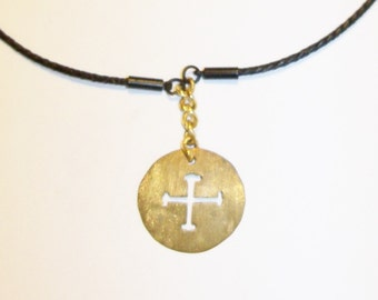 Handmade Cross Pendant Jerusalem Clergy Men Women Gift