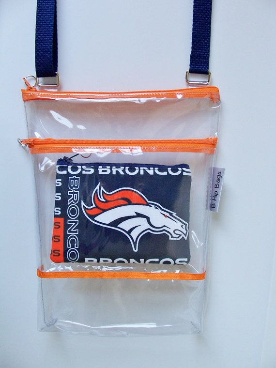 Team Coin Purse Set Denver Broncos Clear Transparent Vinyl