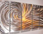art Metal silver colour LED halogen light reflect Video 3D ocean wave modern home office wall hangings decor SCULPTURE bed living room Lubo
