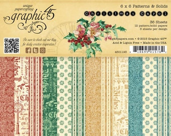 "Graphic 45's ""A Christmas Carol"" Collection 6x6 Pad"