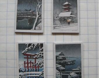 set of four Kawase Hasui prints, five different sets