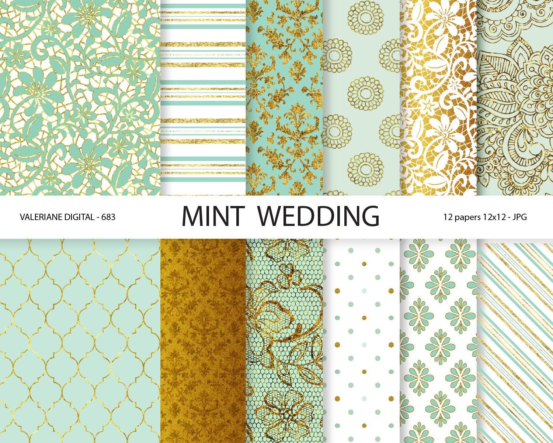 digital paper mint mint digital papers wedding papers mint. Black Bedroom Furniture Sets. Home Design Ideas