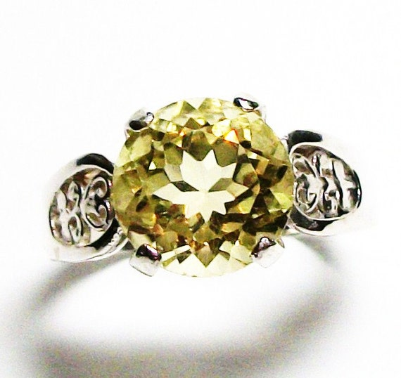 "Citrine, citrine cocktail ring, birthstone ring, solitaire ring, engagement ring s 8   ""Cupcake"""